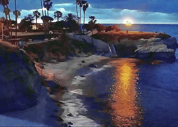 Pools Greeting Card featuring the photograph La Jolla Pools by Frank Garciarubio