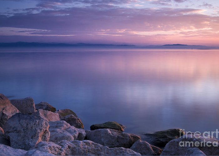Landscape Greeting Card featuring the photograph Lake Constance by Silke Magino