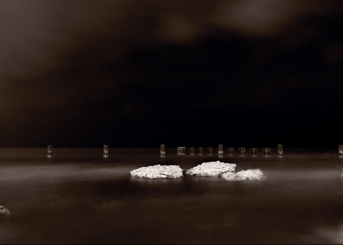 Chicago Greeting Card featuring the photograph Lake Ice by Steve Gadomski