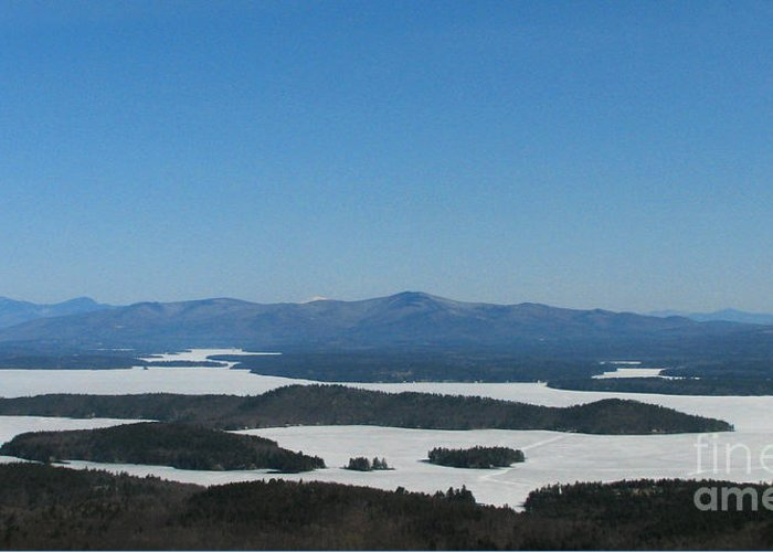 Lake Winnipesaukee Greeting Card featuring the photograph Lake Winnipesaukee View From Mt. Major by Michael Mooney