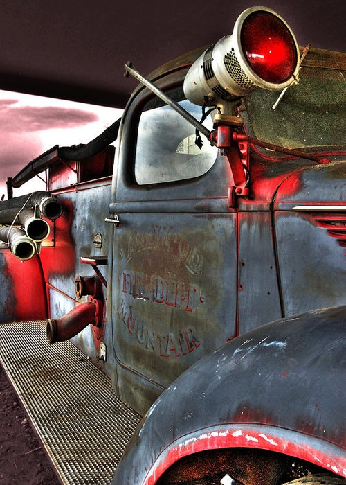 Firetruck Greeting Card featuring the photograph Lakewood Mountair Fire Dept. by Kevin Munro