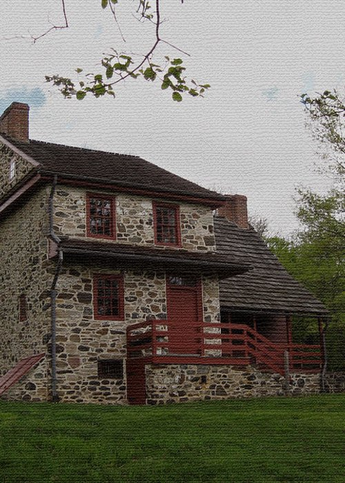 Historic Greeting Card featuring the photograph Layfayette's Headquarters At Brandywine by Gordon Beck