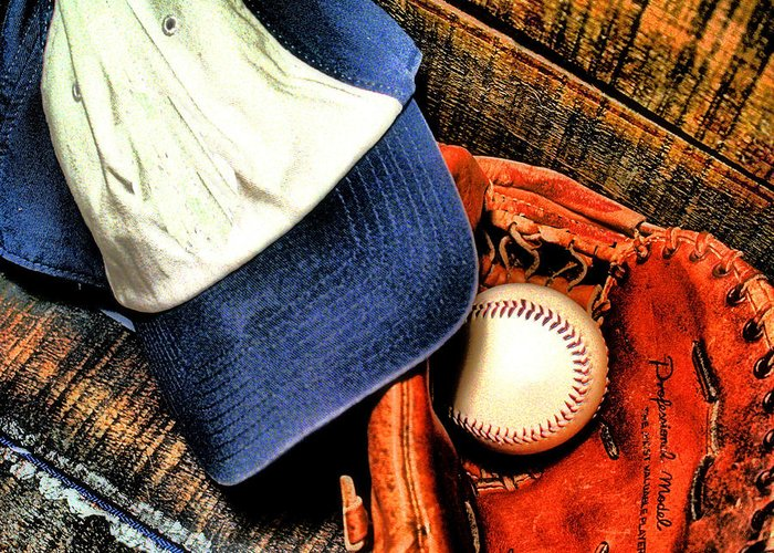 Baseball Greeting Card featuring the photograph Let's Play Ball by Jimmy Ostgard