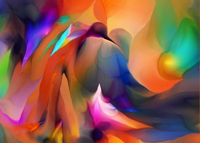 Fine Art Greeting Card featuring the digital art Letting Go by David Lane