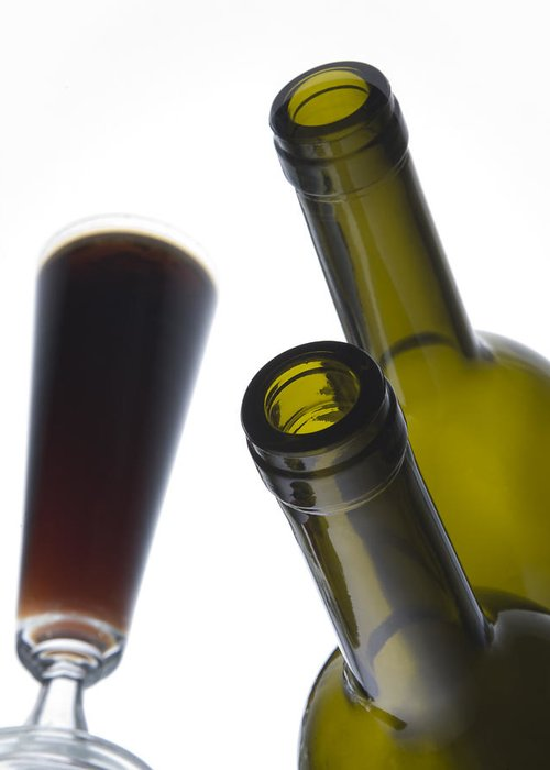 Bottles Greeting Card featuring the photograph Libation 3 by Patrick Ziegler