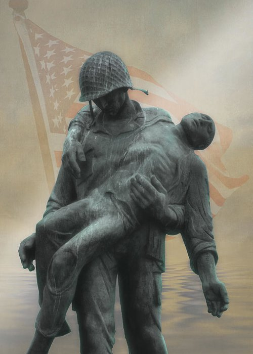 Liberation Monument Greeting Card featuring the photograph Liberation Monument by Tom York Images