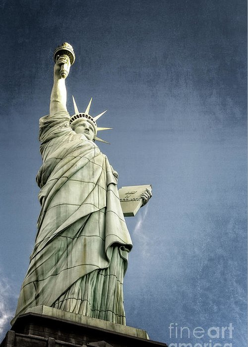 American Greeting Card featuring the photograph Liberty Enlightening The World by Charles Dobbs