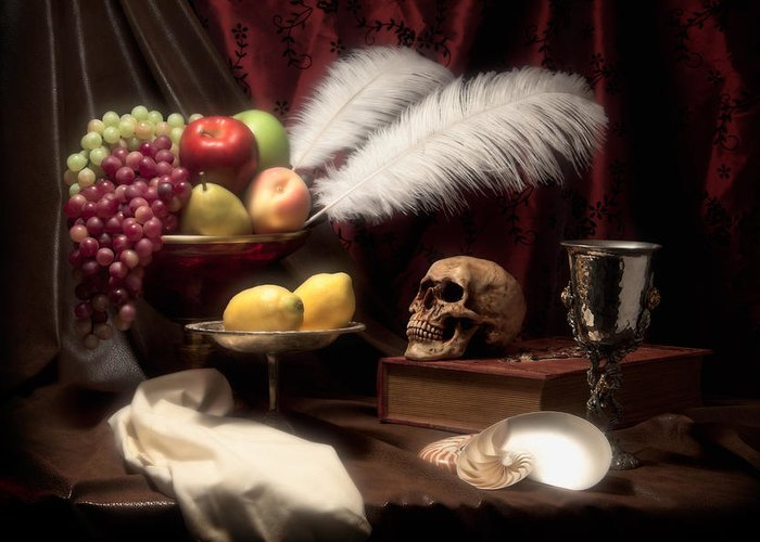 Abundance Greeting Card featuring the photograph Life And Death In Still Life by Tom Mc Nemar