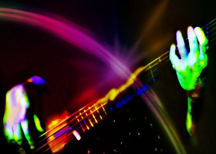 Bass Greeting Card featuring the digital art Light Travels by Ken Walker