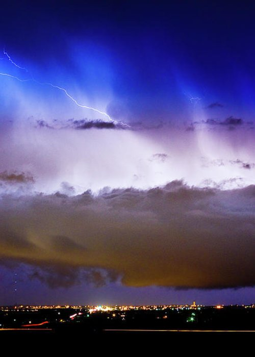 bo Insogna Greeting Card featuring the photograph Lightning Thunder Head Cloud Burst Boulder County Colorado Im39 by James BO Insogna