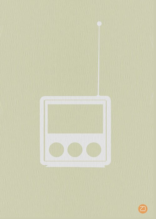 Radio Greeting Card featuring the drawing Little Radio by Naxart Studio