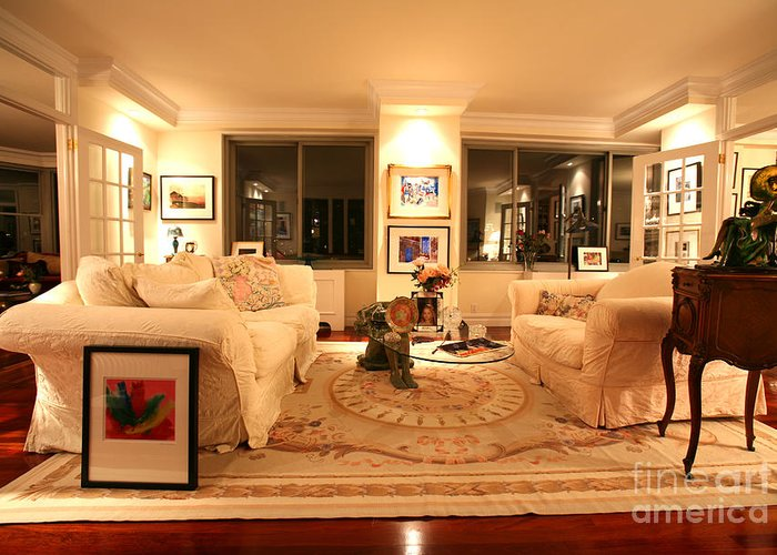 Living Room Greeting Card featuring the photograph Living Room IIi by Madeline Ellis