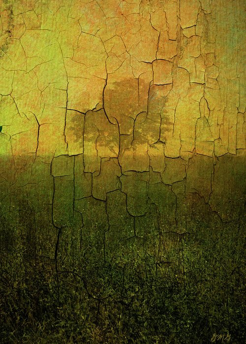 Digital Greeting Card featuring the photograph Lone Tree In Meadow -textured by Dave Gordon