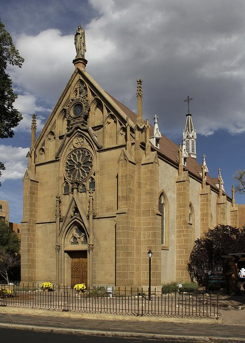 Loretto Chapel Greeting Card featuring the photograph Loretto Chapel - Santa Fe by Mike McGlothlen