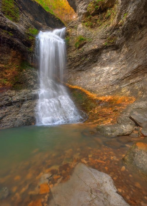 Landscape Greeting Card featuring the photograph Lost Falls by Ryan Heffron
