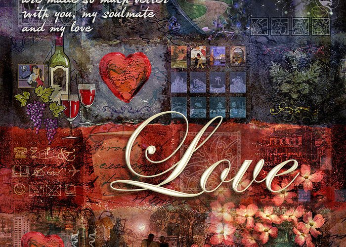 Heart Greeting Card featuring the digital art Love by Evie Cook
