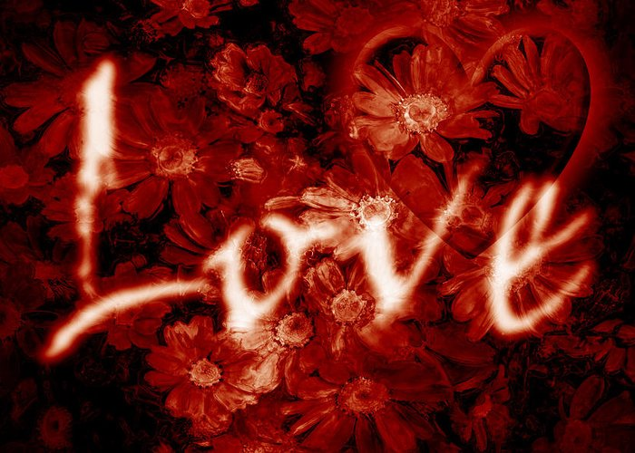 Love Greeting Card featuring the photograph Love With Flowers by Phill Petrovic