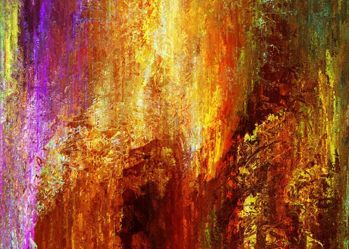 Large Abstract Greeting Card featuring the painting Luminous - Abstract Art by Jaison Cianelli