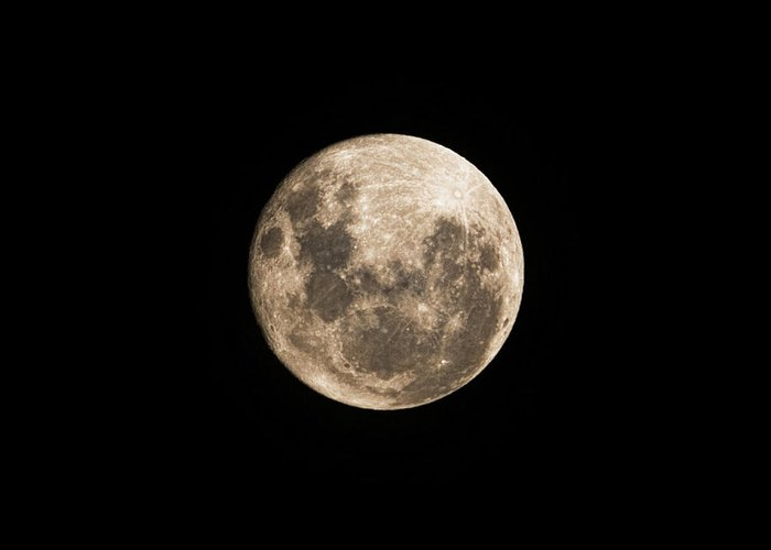 Lunar Greeting Card featuring the photograph Lunar Perigee by Andrew Paranavitana