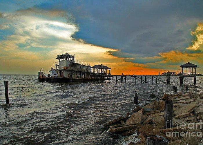 Katrina Hurricane Greeting Card featuring the photograph Madisonville Katrina Ghost Boat by Luana K Perez