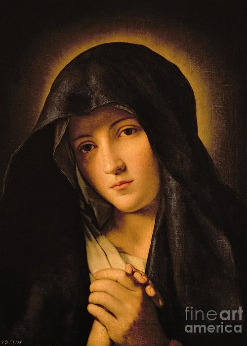 Mary Greeting Card featuring the painting Madonna by Il Sassoferrato