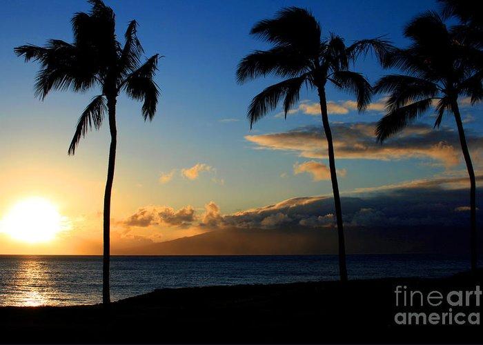 Aloha Greeting Card featuring the photograph Mai Ka Aina Mai Ke Kai Kaanapali Maui Hawaii by Sharon Mau