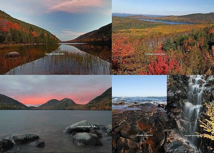 Landscape Greeting Card featuring the photograph Maine Acadia National Park Landscape Photography by Juergen Roth