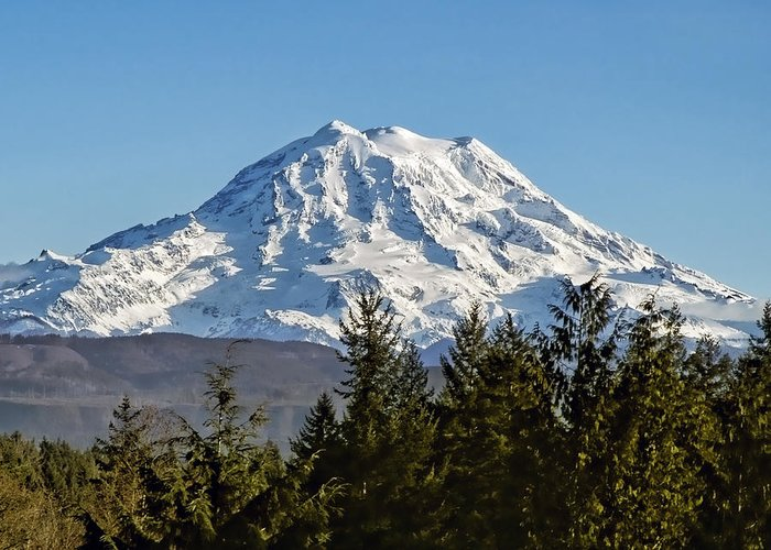 Mount Rainier Greeting Card featuring the photograph Majestic by Kelley King