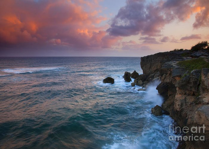 Makewehi Greeting Card featuring the photograph Makewehi Sunset by Mike Dawson