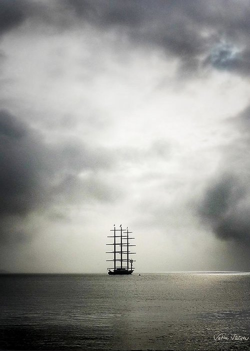 Yacht Greeting Card featuring the photograph Maltese Falcon by Sabine Stetson