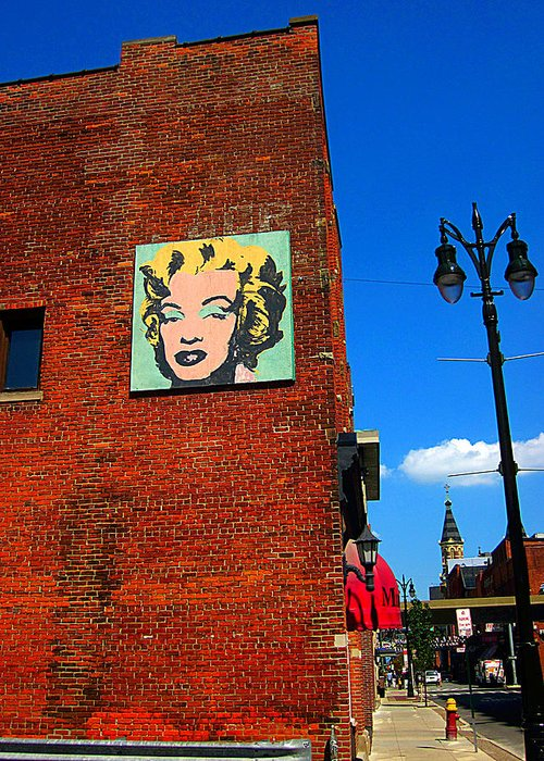 Guy Ricketts Photography Greeting Card featuring the photograph Marilyn Monroe In Detroit by Guy Ricketts