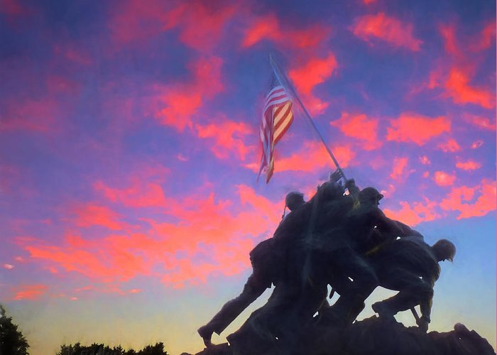 Marine Greeting Card featuring the photograph Marines At Dawn by JC Findley