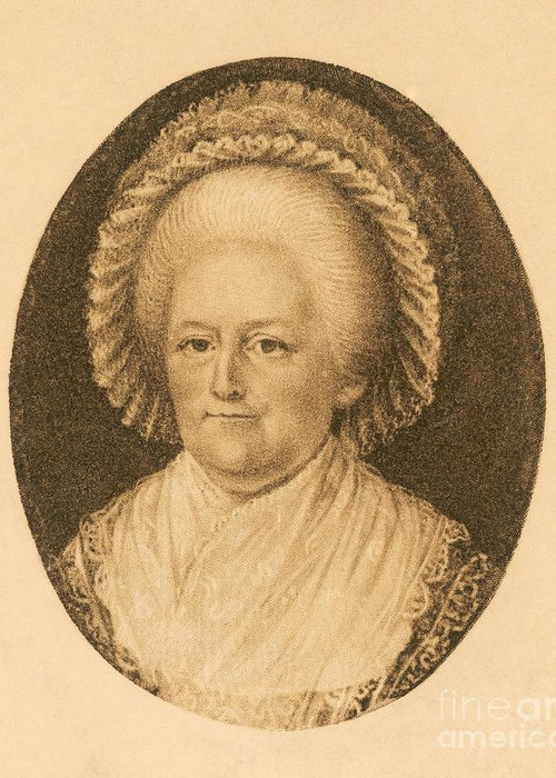 History Greeting Card featuring the photograph Martha Washington, American Patriot by Photo Researchers