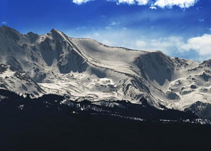 Mt. Massive Greeting Card featuring the photograph Massive View by Darryl Gallegos