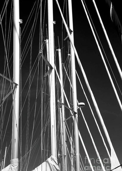Mast Profile Greeting Card featuring the photograph Mast Profile by John Rizzuto
