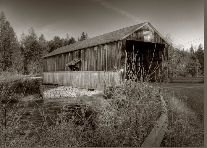 Mccann Greeting Card featuring the photograph Mccann Covered Bridge by Jason Bennett