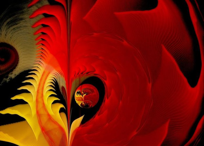 Fractal Greeting Card featuring the digital art Meditations Of Our Heart by Gayle Odsather