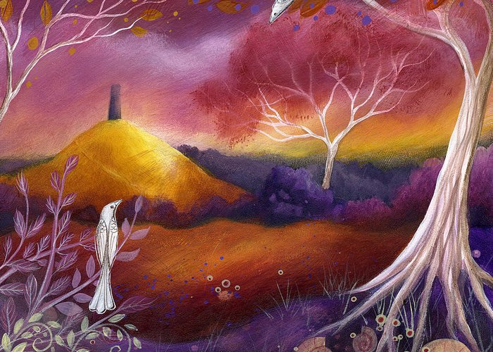 Landscape Greeting Card featuring the painting Meeting Place by Amanda Clark