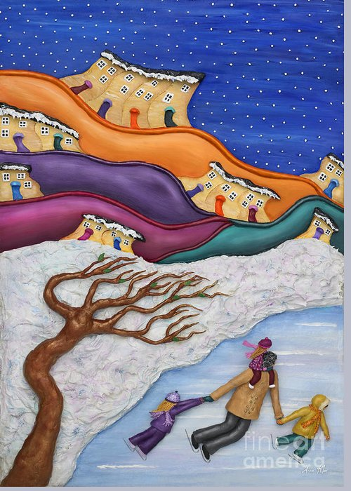 Ice Greeting Card featuring the mixed media Memories On Ice by Anne Klar
