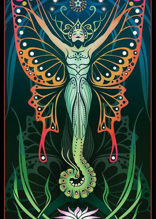 Art Nouveau Greeting Card featuring the digital art Metamorphosis by Cristina McAllister