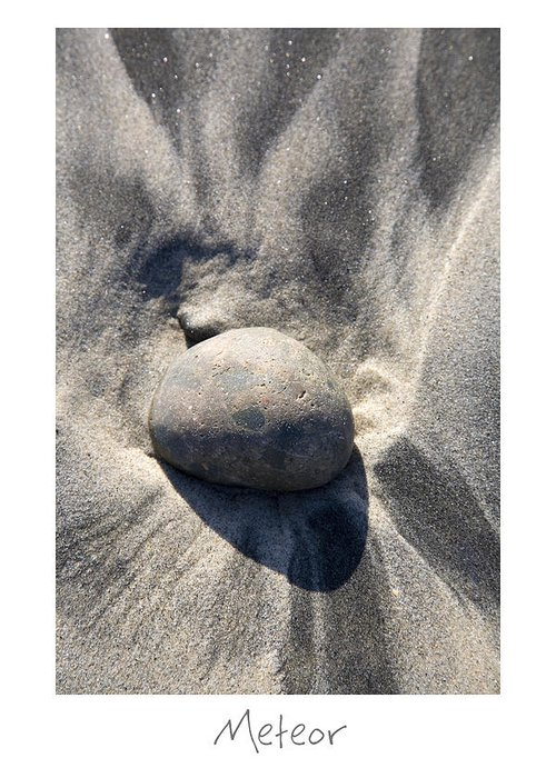 Beach Art Greeting Card featuring the photograph Meteor by Peter Tellone