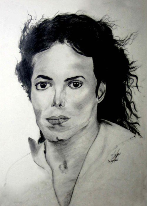 Drawing Greeting Card featuring the drawing Michael by LeeAnn Alexander