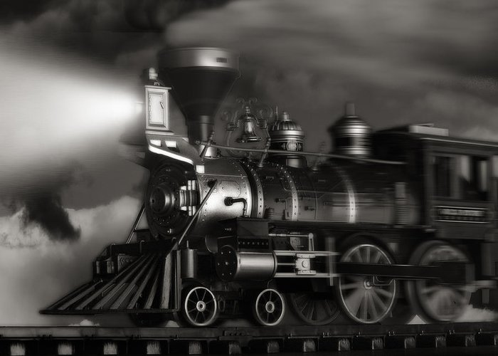 Train Greeting Card featuring the photograph Midnight Flyer by Tom Mc Nemar