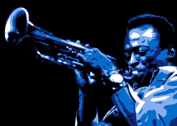 Miles Davis Greeting Card featuring the digital art Miles Davis by DB Artist