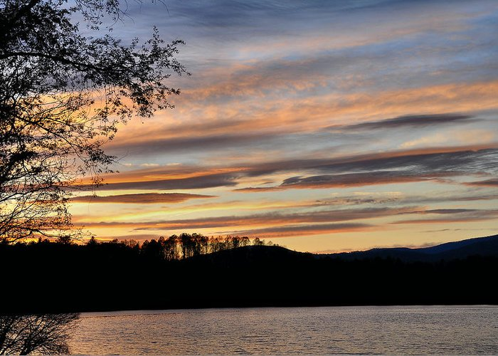 Mill Creek Lake Greeting Card featuring the photograph Mill Creek Lake Sun Set by Todd Hostetter