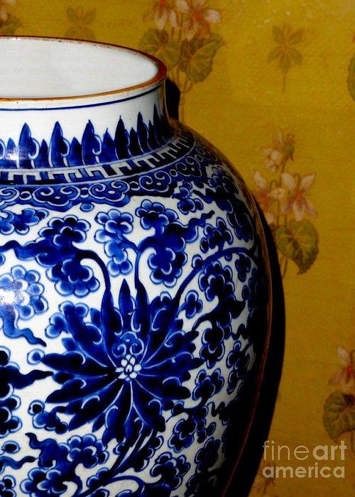Al Bourassa Greeting Card featuring the photograph Ming Vase by Al Bourassa