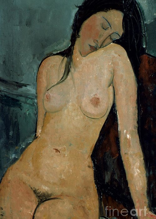 1917 Greeting Card featuring the photograph Modigliani: Nude, C1917 by Granger