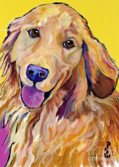 Acrylic Paintings Greeting Card featuring the painting Molly by Pat Saunders-White