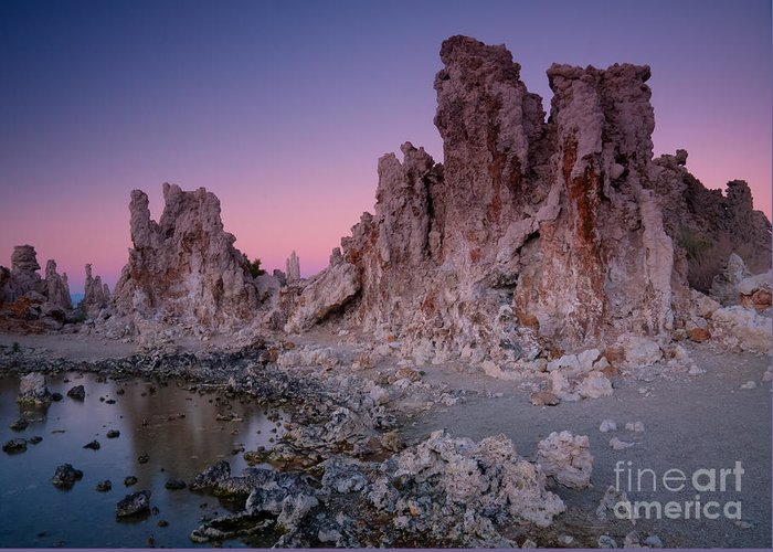 Mono Lake Greeting Card featuring the photograph Mono Lake Tufas by Idaho Scenic Images Linda Lantzy