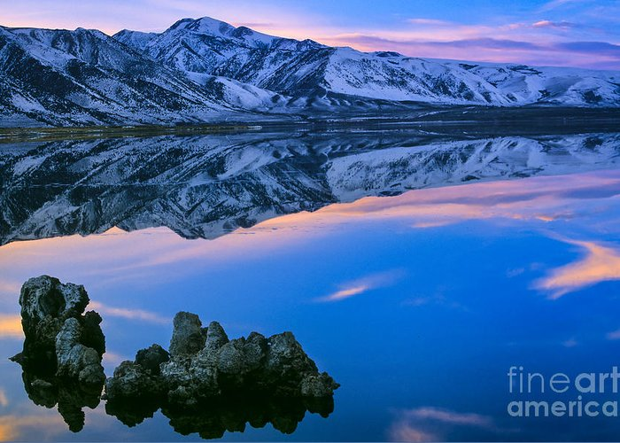 America Greeting Card featuring the photograph Mono Lake Twilight by Inge Johnsson